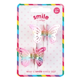 Smile Butterfly Hair Claw Pack X2