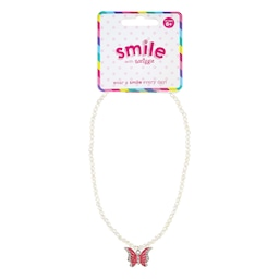 Smile Butterfly Beaded Necklace