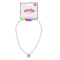 Smile Heart Beaded Necklace