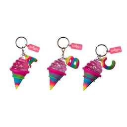 Ice Cream Scented Alphabet Keyring