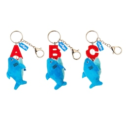 Bite Me Alphabet Shark Keyring