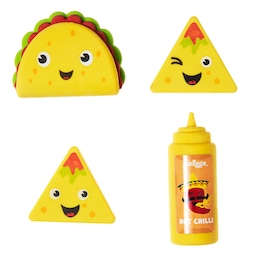 Taco Truck Scented Erasers Box X4