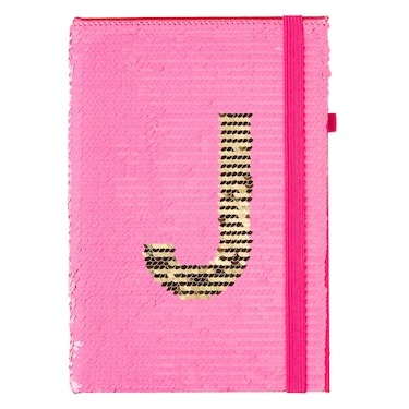 15Th Birthday Alphabet Sequin A5 Notebook