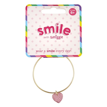 Smile Heart Bangle Bracelet